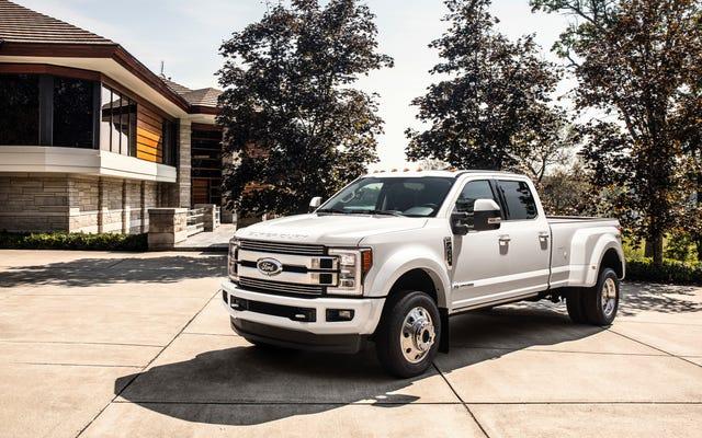Ford rappelle également environ 550000 camions sur le potentiel des systèmes de ceinture de sécurité à provoquer des incendies