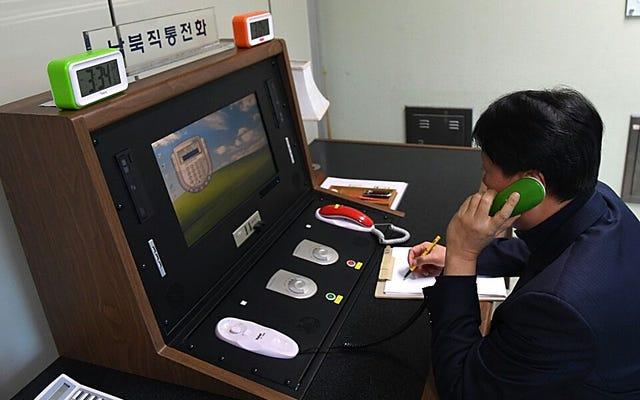 La Corée du Nord rouvre sa ligne téléphonique avec la Corée du Sud, et les téléphones sont sûrement bizarres
