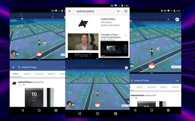 Użyj podzielonego ekranu Androida Nougata w aplikacjach takich jak Pokémon Go, które go nie obsługują