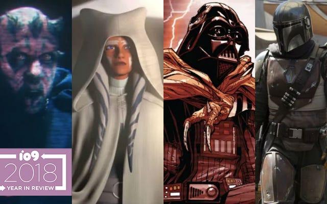 15 ช่วงเวลาที่ดีที่สุดและน่าตกใจที่สุดของ Star Wars ปี 2018