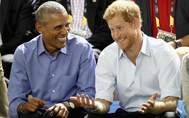 ハリーがバリーに会ったとき...王子がBBCの元大統領にインタビューする