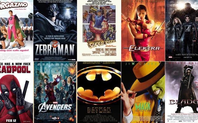 スーパーヒーロー映画、ランク付け