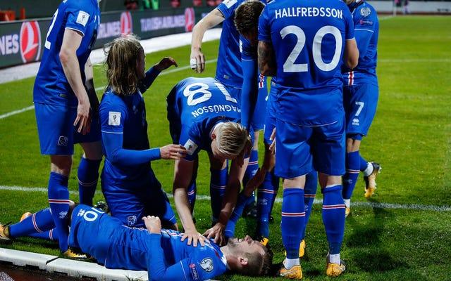 アイスランドのサッカー戦士は、史上初のワールドカップに出場することで誇りを持っています