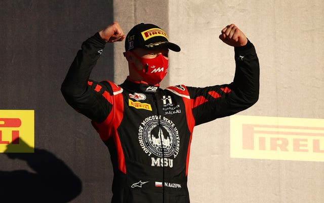 Nikita Mazepin, frenética de la Fórmula Uno, manosea a una mujer
