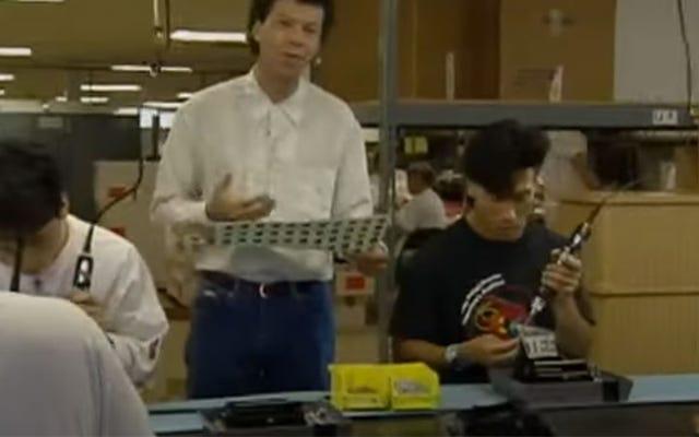 失われたビデオは私たちを任天堂の中に連れて行きます1990年に、NESコンソールが作られていることを示しています