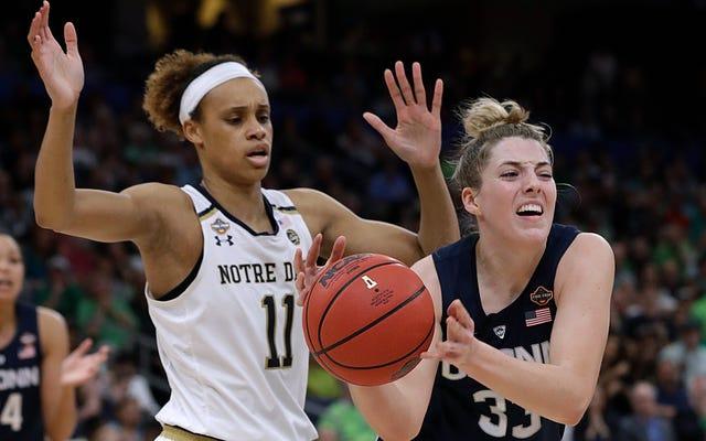 Brianna Turner di Notre Dame ha mantenuto una promessa pre-partita a se stessa per terminare la stagione di UConn