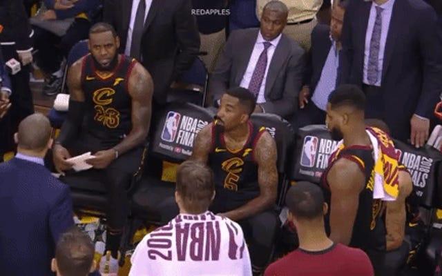 Voici quatre minutes de séquences du premier match de LeBron James ne pas assassiner JR Smith