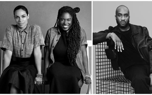 Głosuj, ale stwórz modę: Rosario Dawson i Abrima Erwiah wraz z Virgilem Ablohem wprowadzają modę na naszą przyszłość