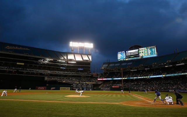 MLBは、オークランドAが小規模市場のチームのふりをすることを許可しなくなります