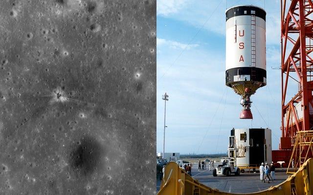 彼らは、43年後、アポロ16号が月に残した失われたクレーターを発見しました。