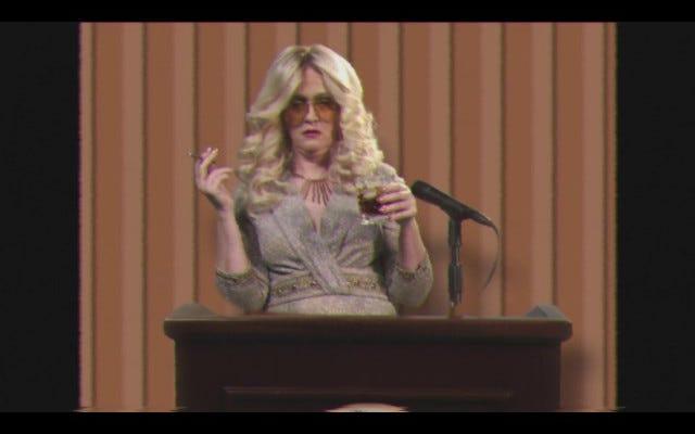 """Сэм Би поджаривает арахисового фермера в промо-акции """"Ужин корреспондентам не в Белом доме"""""""