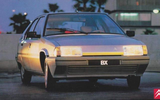 La Citroën BX era un'astronave angolare e la adoro