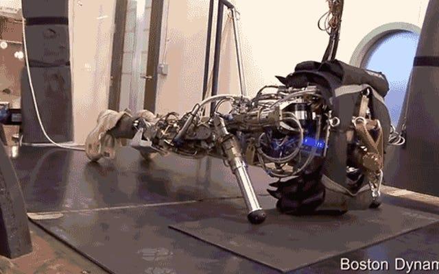 Uma montagem de robô do Boston Dynamics definida para levar ao limite do Scarface