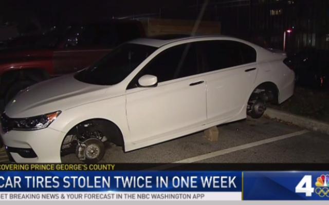โจรขโมยล้อรถ Honda Accord สองครั้งในหนึ่งสัปดาห์