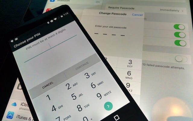 セキュリティを強化するために、携帯電話のパスコードを少なくとも6桁にアップグレードしてください