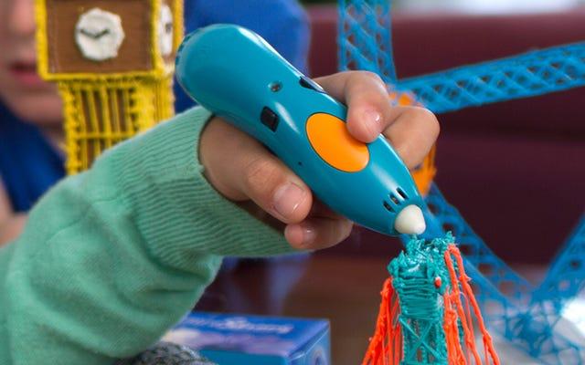 3Doodlerの新しい子供に安全なバージョンは指を燃やすことなくプラスチックを溶かします