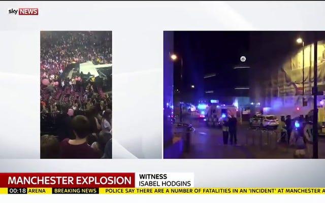 アリアナグランデコンサートでの爆発により19人が死亡、少なくとも50人が負傷