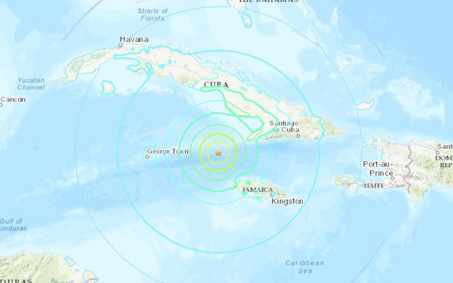ジャマイカ近郊のカリブ海で強力な地震が発生