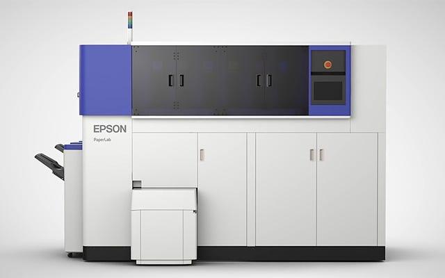 Esta ingeniosa impresora recicla papel de desecho en papel nuevo directamente en su oficina