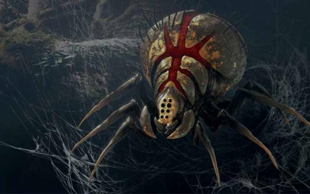 スターウォーズジェダイの芸術の中:堕落した秩序、キャッシークの巨大なクモはこれまで以上に恐ろしいです