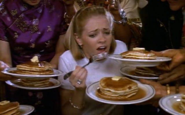 非常に特別なサブリナ、ティーンエイジウィッチはパンケーキ中毒の深刻な問題に取り組んでいます