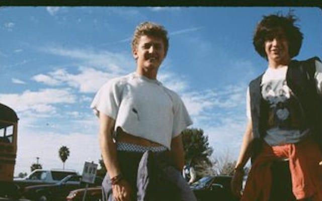 アレックスウィンターはビルとテッドの大冒険の舞台裏の写真を共有しています