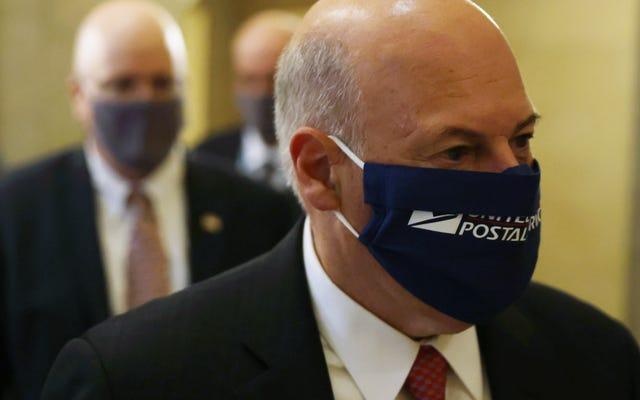 郵便局長官は、選挙が終わるまで郵便局をめちゃくちゃにするのをやめると言います