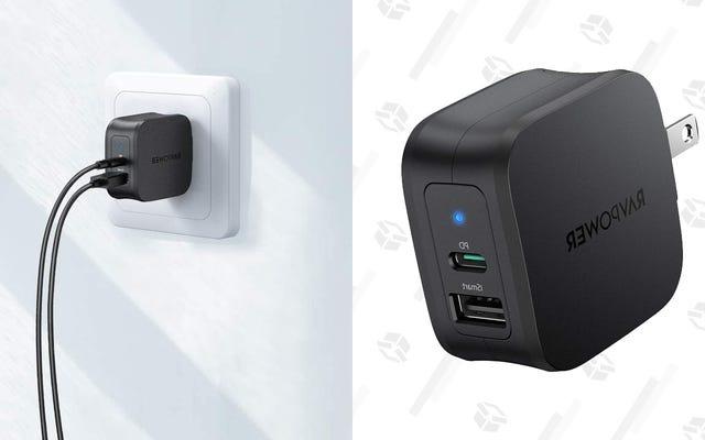 Le chargeur rapide 2 ports 30 W de RAVPower dispose d'une alimentation USB-C et est moins cher que jamais [Exclusif]