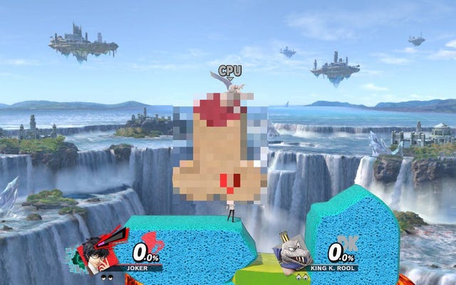 La actualización de Smash Bros. se pone en marcha, las etapas del pene se erigen de inmediato