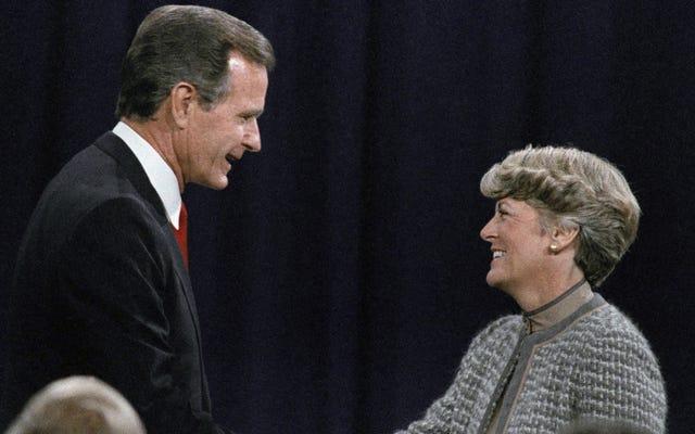 Khoảnh khắc tranh luận tuyệt vời: Khi Geraldine Ferraro gọi 'Thái độ bảo trợ' của George Bush