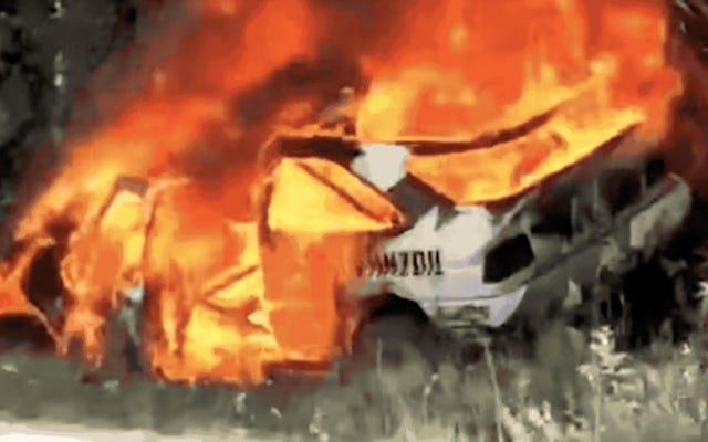 El hermoso Ford Escort RS 1991 de Ken Block se incendia en el Rally de los bosques de Nueva Inglaterra