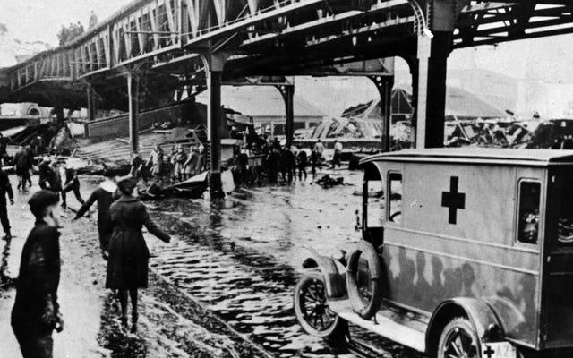 Великое бостонское наводнение патоки 1919 года было быстрее, чем вы думаете