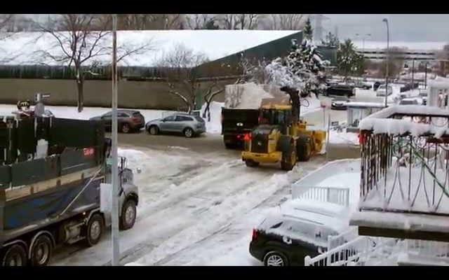 Tuyết rơi ở Montreal thật tuyệt