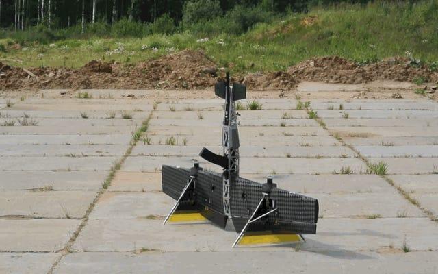 飛ぶカラシニコフ:ロシアは、神話上のAK-47に基づいたドローンの最初の画像を示しています