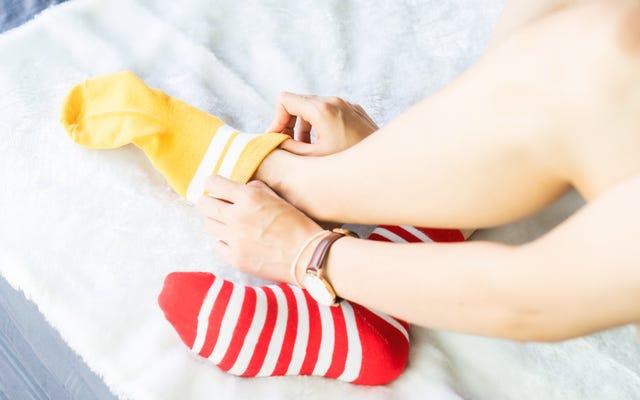 Tragen Sie Socken, um leicht einzuschlafen