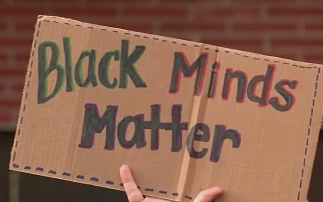 黒人歴史月間を禁止したとされる校長は、逆人種差別の黒人教師を非難します。教師は彼女を元のレシピの人種差別で非難する