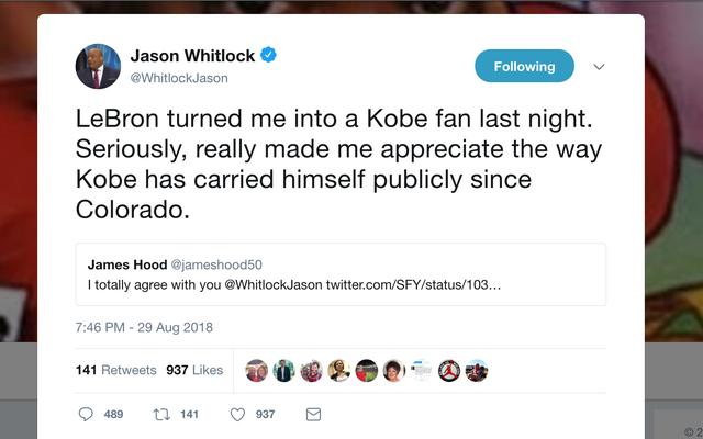 그래, 이것은 Jason Whitlock의 최악의 슬픔이 될 수 있습니다.