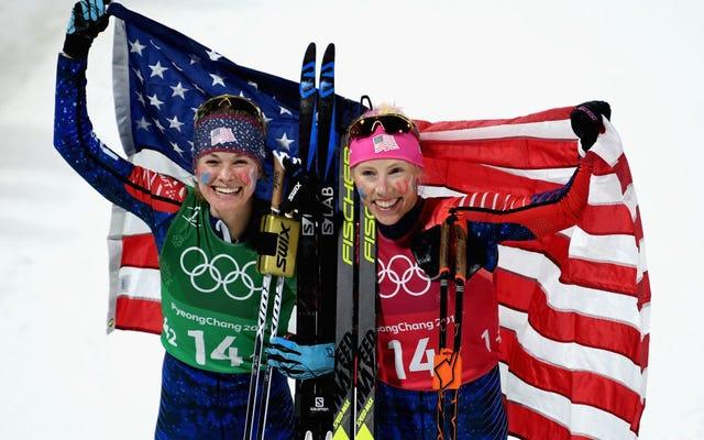 สตรีอเมริกันเพิ่งคว้าเหรียญรางวัลข้ามประเทศครั้งแรก