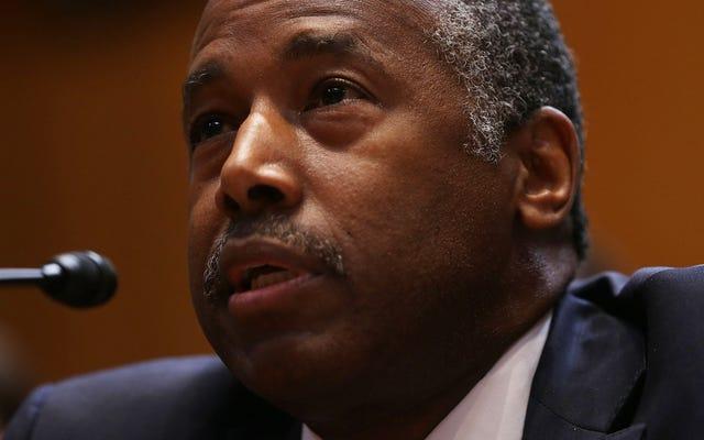 Ben Carson, Konut Politikası Hakkında Hiçbir Şey Bilmesi Gerekmediğini Söyledi, Sadece Yapan İnsanların Etrafında Patron Olması Gerekiyor