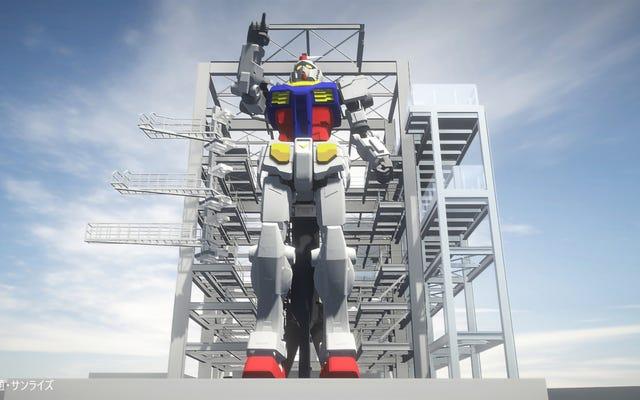 El último Gundam gigante de Japón es glorioso y está casi terminado