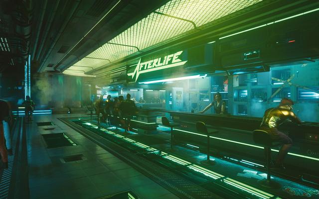 Puedes rechazar el alcohol en Cyberpunk 2077