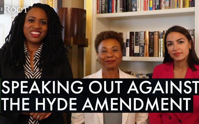 「ハイドの日は数えられる」:プレスリー、リー、AOCの各議員は、低所得の女性の妊娠中絶を制限する法律を廃止することを誓う