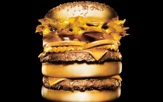 Aujourd'hui dans la nourriture dorée à la mode: ailes de 1000 $, hamburger à 90 $ et shake