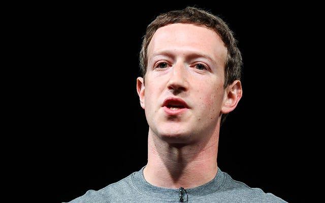 ザッカーバーグは選挙について考え、Facebookは責任を負わないと決定した