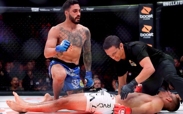 MMAプロスペクトのアーロンピコはノックダウンに興奮しすぎてノックアウトされてしまいました