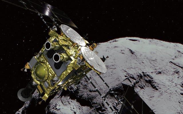 La navicella spaziale giapponese Hayabusa2 tocca l'asteroide Ryugu