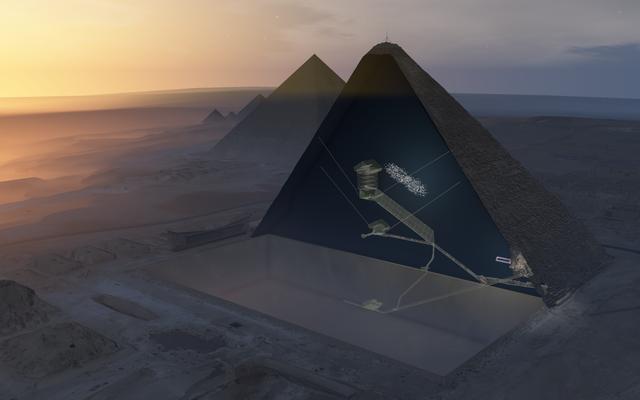 唖然とした科学者がギザの大ピラミッド内の隠された部屋の疑いを検出