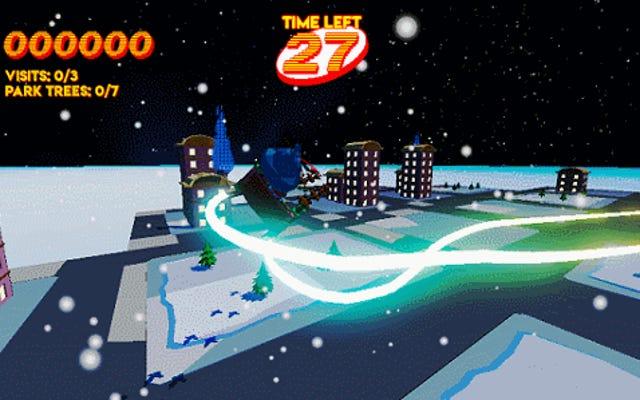 Santa Claus Flight Sim est un néon Cheer-Fest