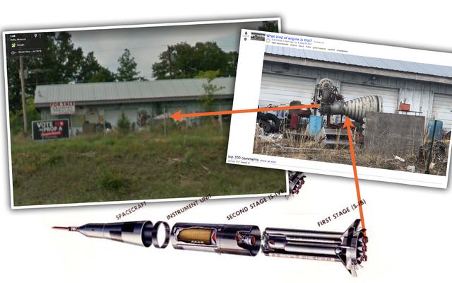 Qualcuno ha scoperto un motore a razzo Saturno seduto in una discarica del Missouri