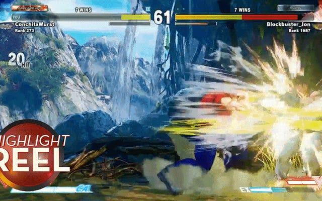 Pro Player mostra il potere di Guile